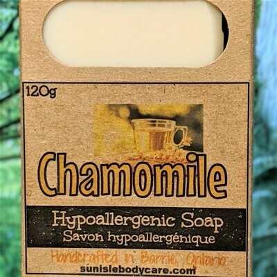 Chamomile Fragrance Free Hypoallergenic Soap Bar NFSB006