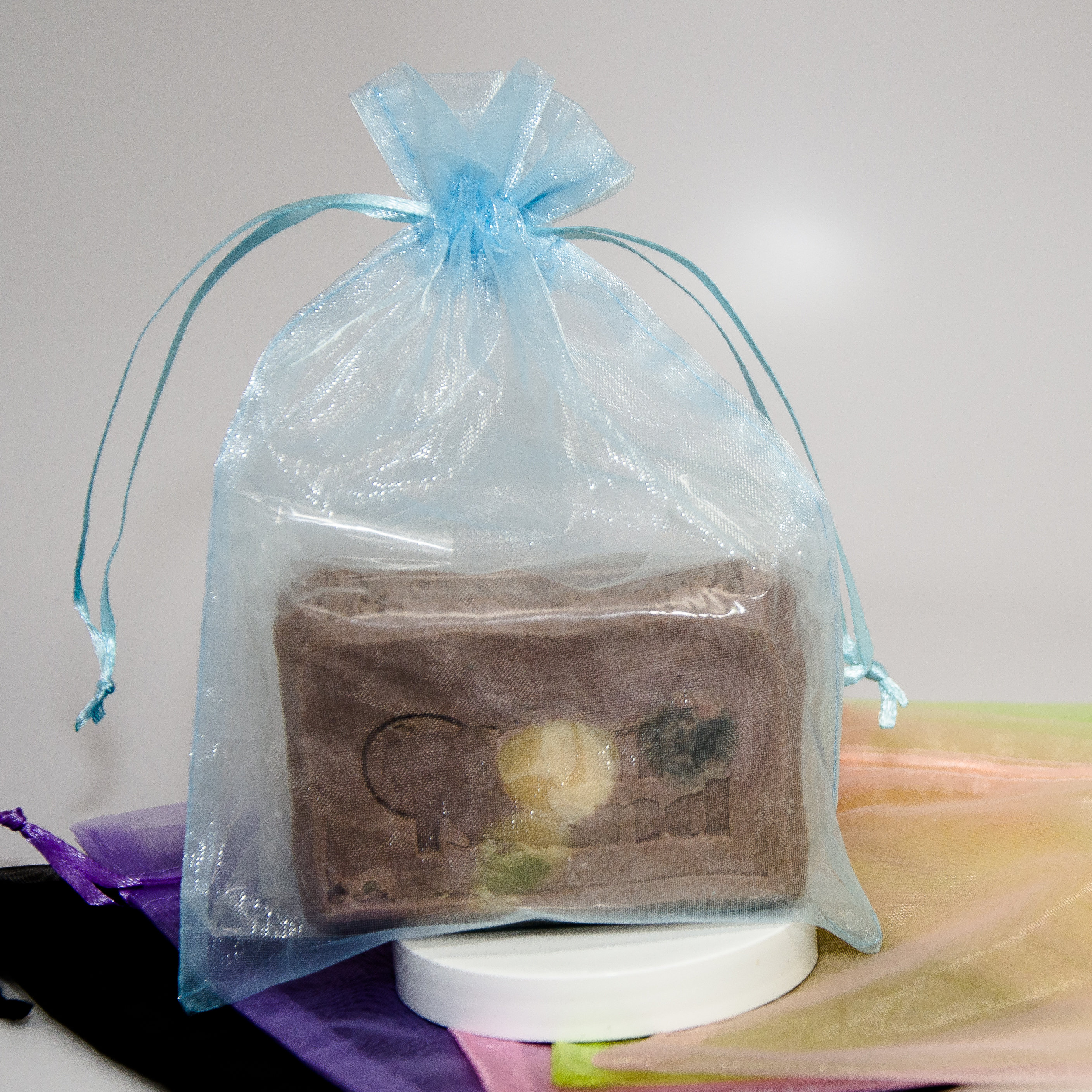 Nylon soap bag example.