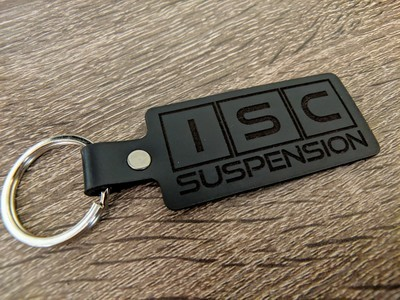 Small batch ISC leather keychain