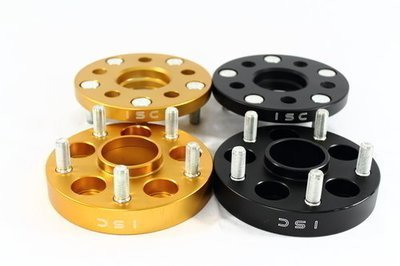 BLACK ISC 5x100 to 5x114 Wheel Adapters 25mm