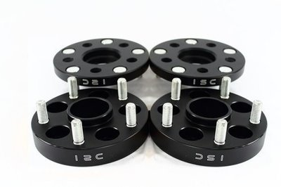 ISC 5x100 15mm Black Hub Centric Wheel Spacers (Pair)