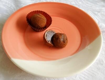 70% dark chocolate, kahlua and Marlborough sea salt truffles. 5 piece