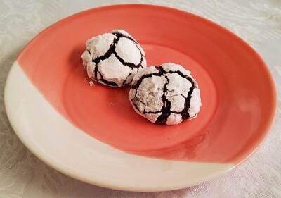 Chocolate & orange snowball cookies.  110g