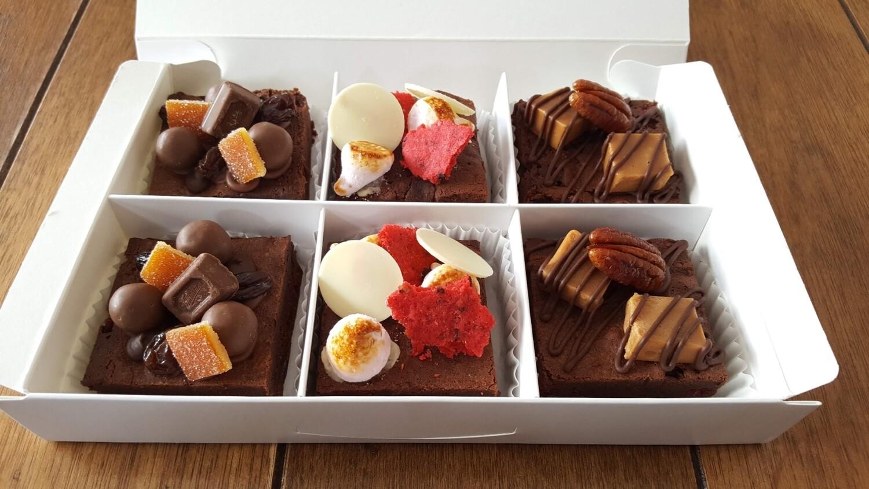 6 piece Brownie gift box,  selection of 3 varieties