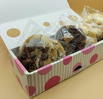 Soft chocolate cookies selection.  3 varieties 6 pack