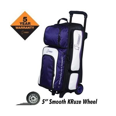 Hammer Vibe 3 Ball Roller Purple/White Bowling Bag