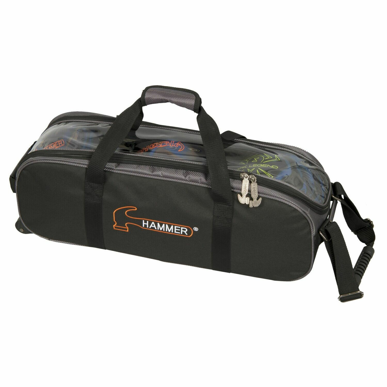 Hammer 3 Ball Roller Tote Black/Carbon Bowling Bag