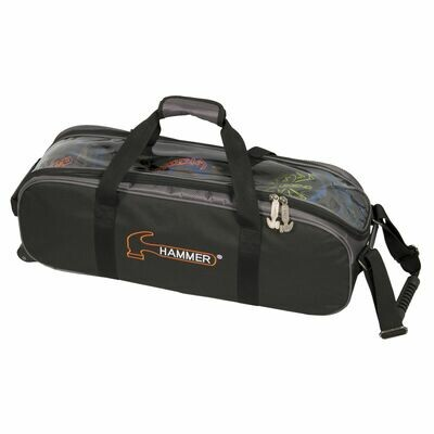 Hammer 3 Ball Roller Tote Black/Carbon Bowling Bag