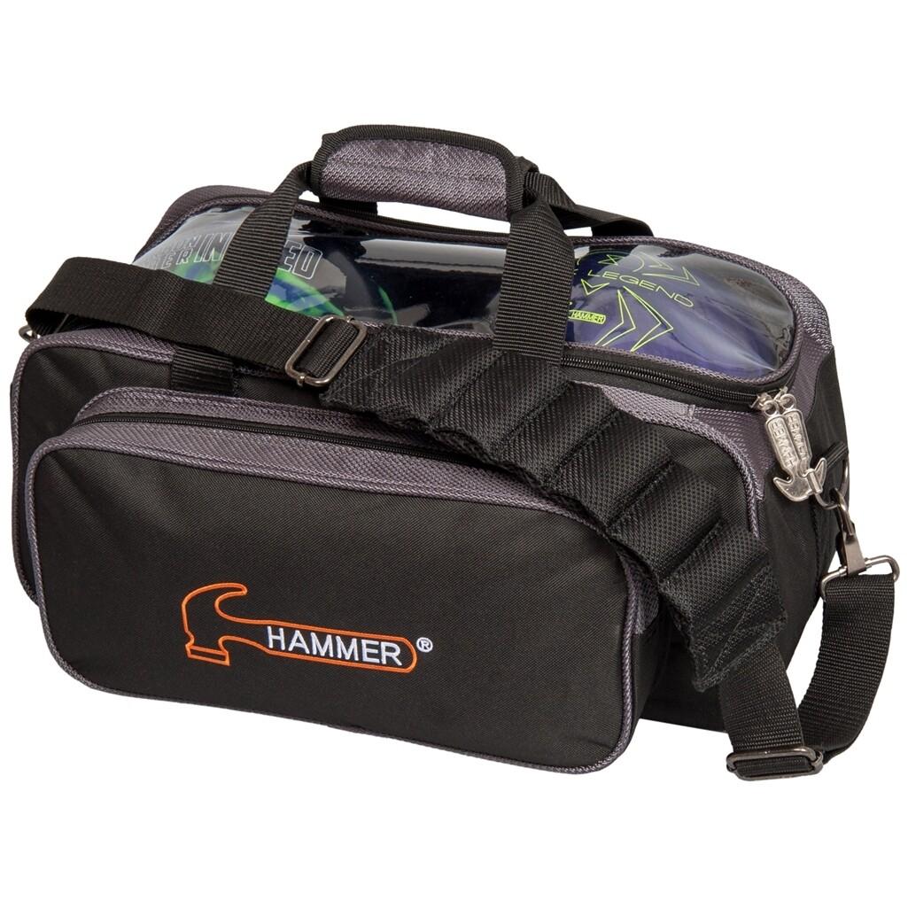 Hammer 2 Ball Tote Black/Carbon Bowling Bag
