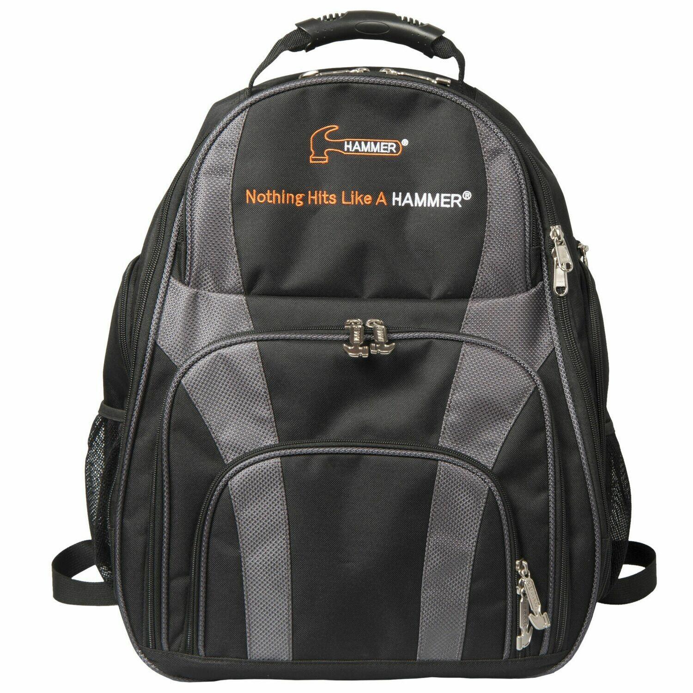 Hammer Deuce Black/Carbon 2 Ball Tote Back Pack Bowling Bag
