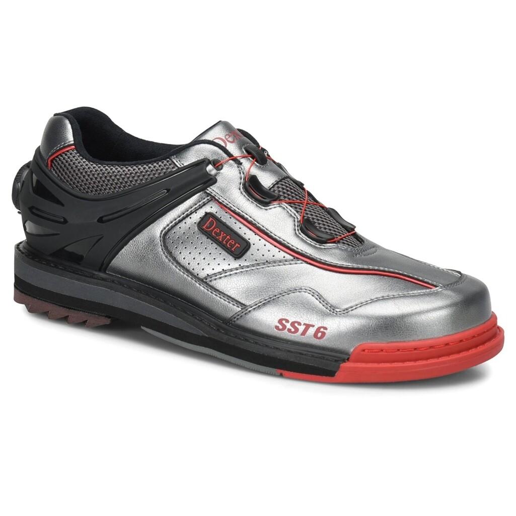 Dexter SST 6 Hybrid BOA Grey/Black/Red Left Handed Mens Bowling Shoes