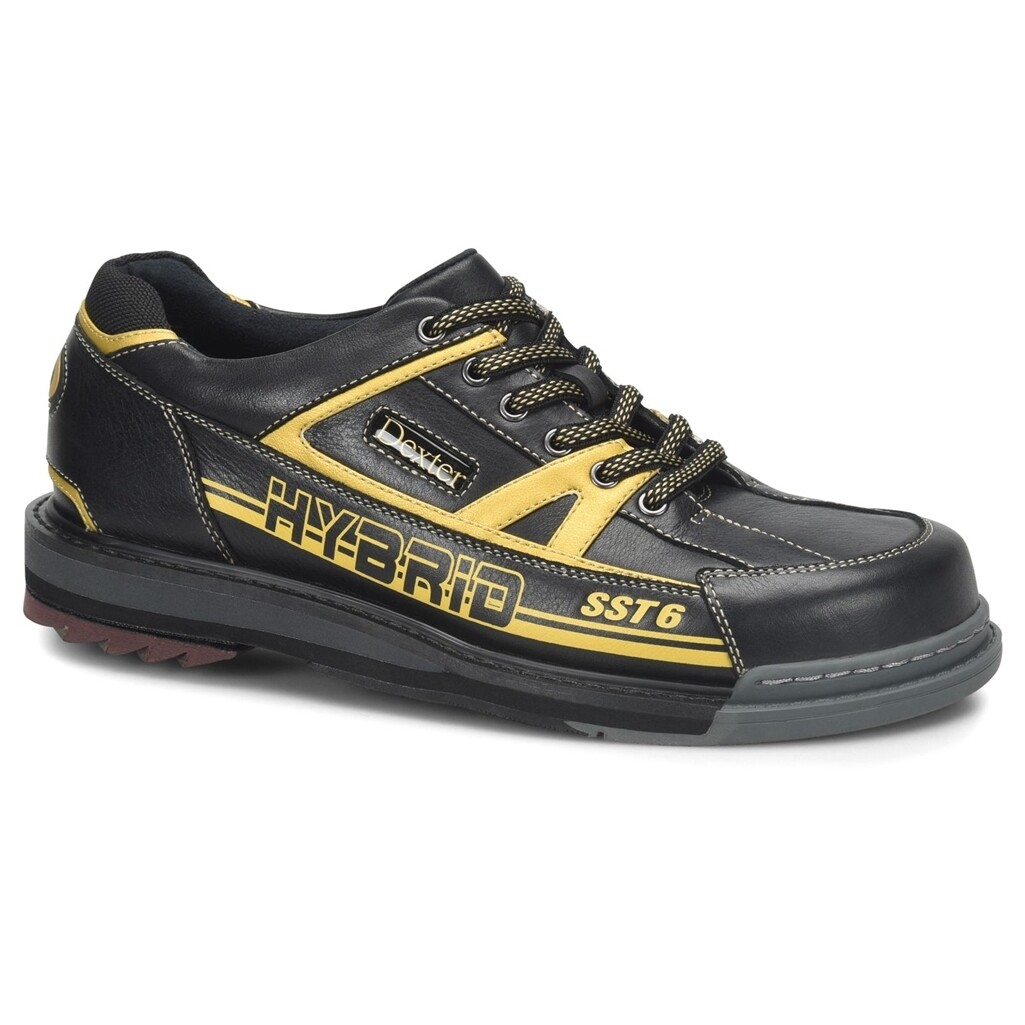 Dexter SST 6 Hybrid Black/Gold Right Handed Mens Bowling Shoes