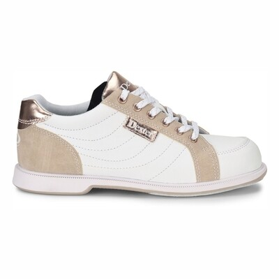 Dexter Groove IV White/Gold Womens Bowling Shoes