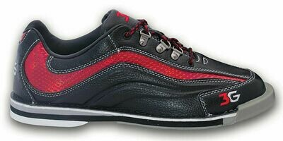 3G Sport Ultra Black/Red  Mens Bowling Shoes