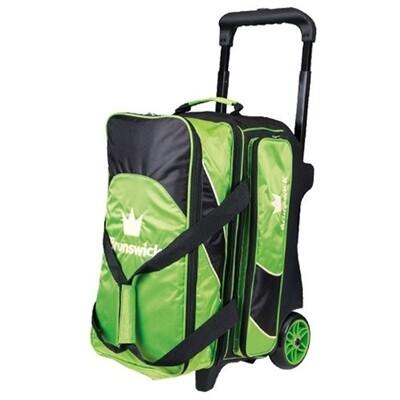 Brunswick Edge 2 Ball Roller Black/Lime Green Bowling Bag