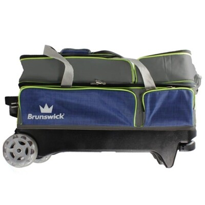 Brunswick Crown 3 Ball Roller Navy/Lime Bowling Bag