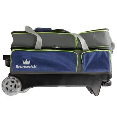 Brunswick Crown 3 Ball Roller Navy/Lime Bowling Bag