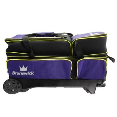 Brunswick Crown 3 Ball Roller Purple/Yellow Bowling Bag