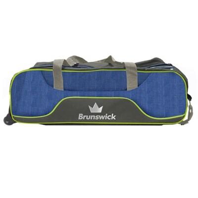 Brunswick Crown Navy/Lime 3 Ball Tote Bowling Bag