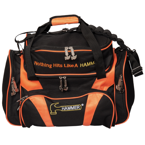 Hammer Double Deluxe Black/Orange 2 Ball Bowling Bag