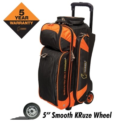 Hammer Premium Black/Orange 3 Ball Roller Bowling Bag