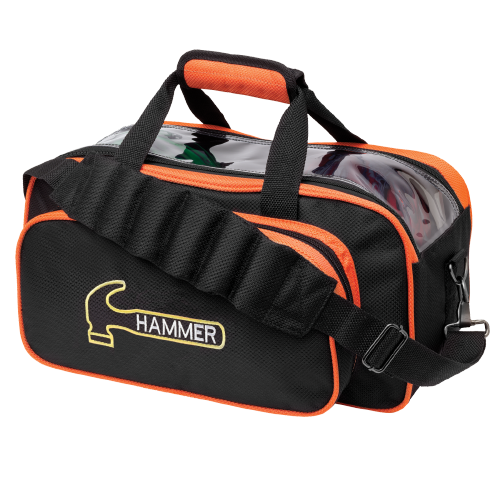 Hammer Black/Orange Double Tote 2 Ball Bowling Bag