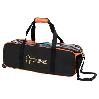 Hammer 3 Ball Tote Black/Orange Bowling Bag