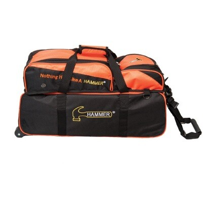 Hammer 3 Ball Tote Black/Orange Bowling Bag With Shoe Pouch