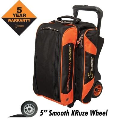 Hammer Premium Black/Orange 2 Ball Roller Bowling Bag