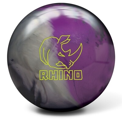 Brunswick Rhino Charcoal/Silver/Violet Bowling Ball