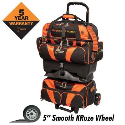 Hammer Premium Black/Orange 4 Ball Roller Bowling Bag