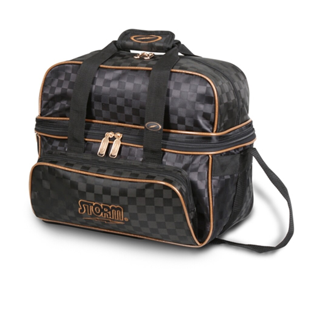 Storm 2 Ball Deluxe Tote Black/Gold Bowling Bag