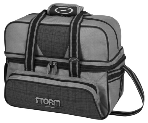 Storm 2 Ball Deluxe Tote Plaid/Gray/Black Bowling Bag