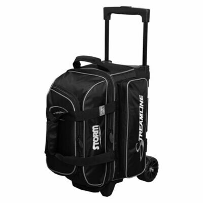 Storm Streamline Black/Silver 2 Ball Roller Bowling Bag