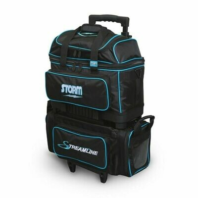 Storm Streamline Black/Blue 4 Ball Roller Bowling Bag
