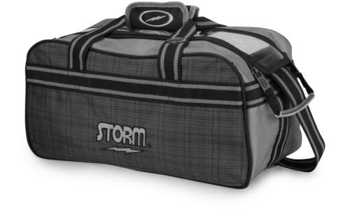 Storm 2 Ball Tote Plaid/Gray/Black Bowling Bag