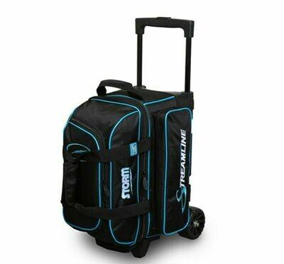 Storm Streamline Black/Blue 2 Ball Roller Bowling Bag