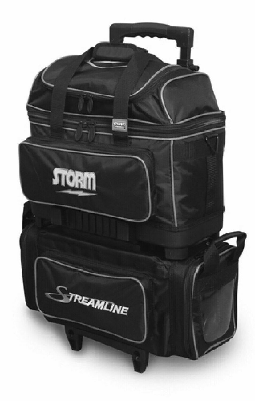 Storm Streamline Black/Silver 4 Ball Roller Bowling Bag