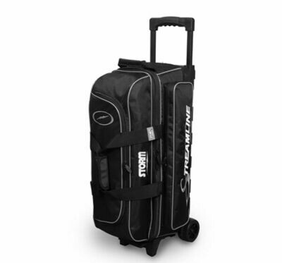 Storm Streamline Black/Silver 3 Ball Roller Bowling Bag