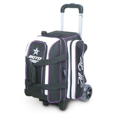 Roto Grip All Star Black/Purple 2 Ball Roller Bowling Bag