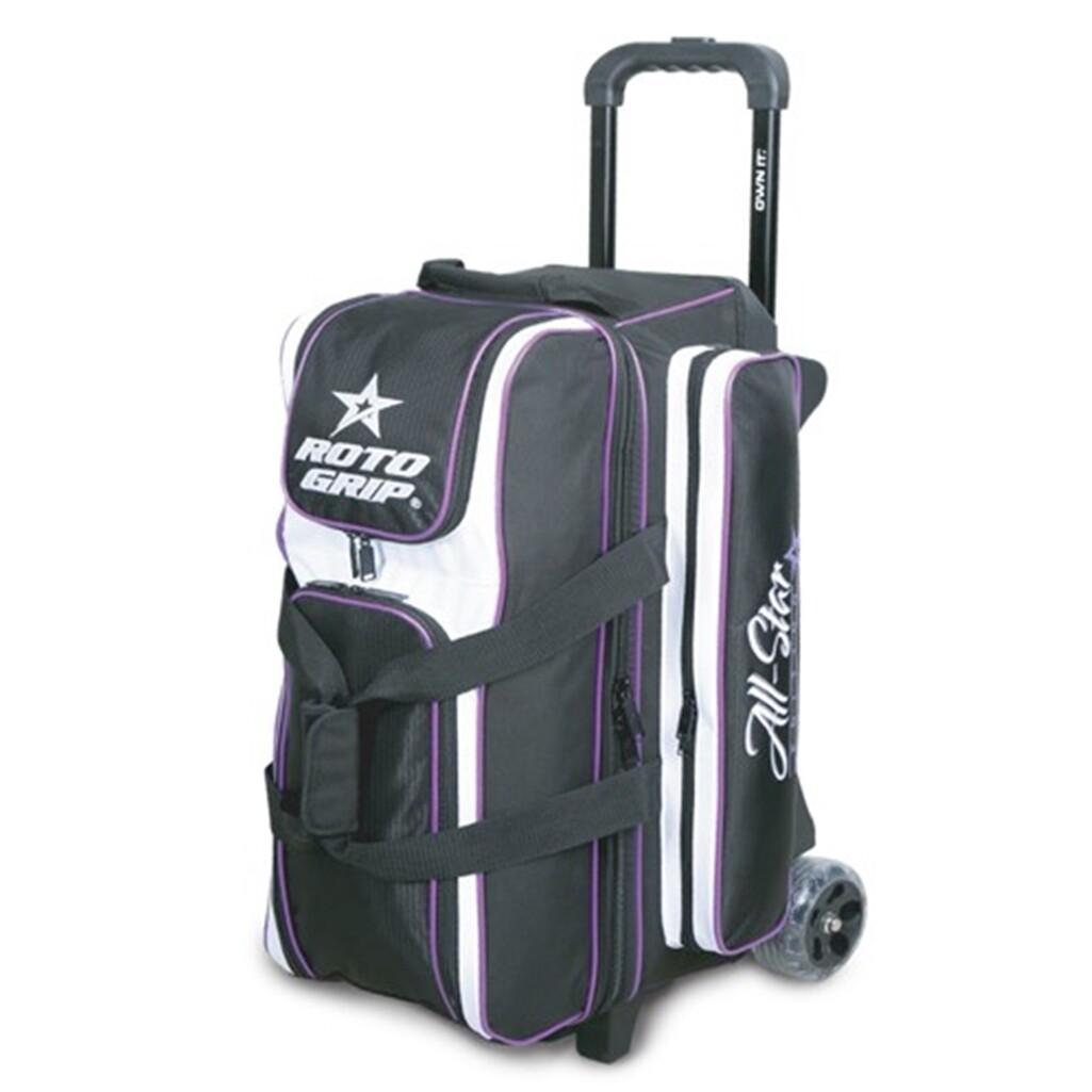 Roto Grip All Star Black/Purple 3 Ball Roller Bowling Bag