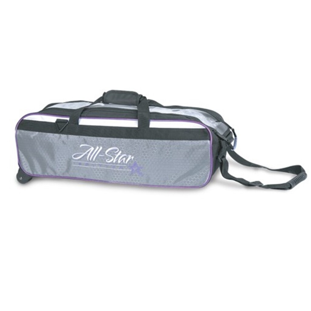 Roto Grip All Star 3 Ball Travel Tote Grey/Black/Purple Bowling Bag
