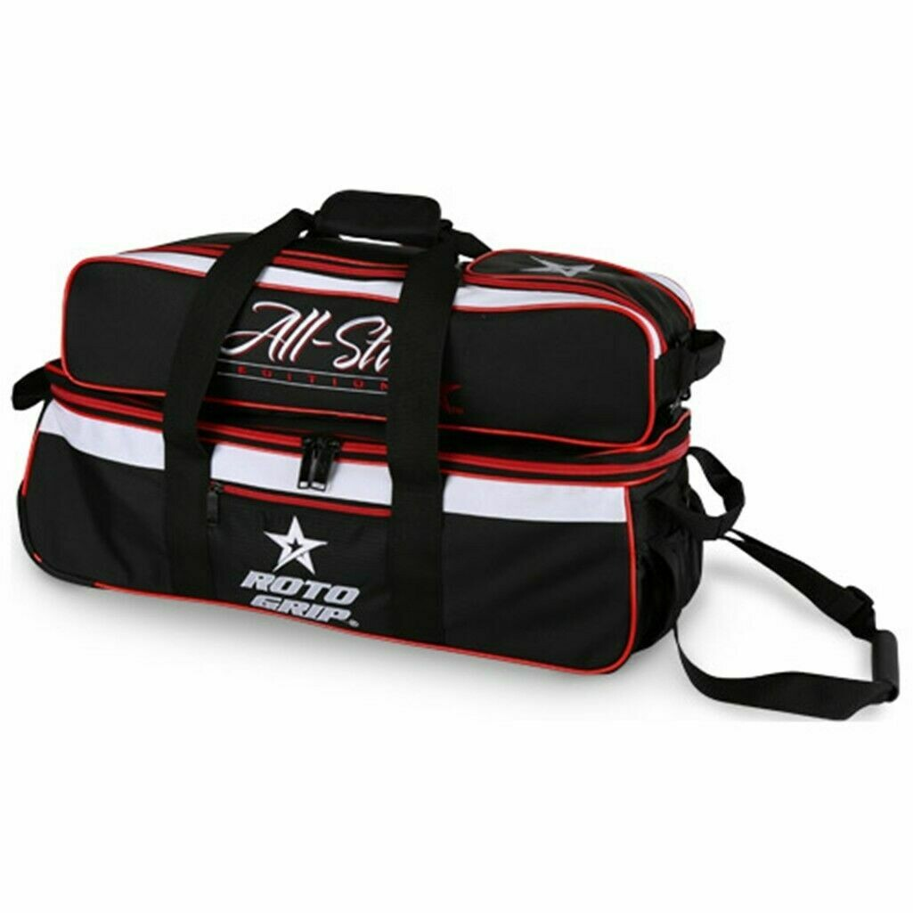 Roto Grip Carry All 3 Ball Tote Black/Red Bowling Bag
