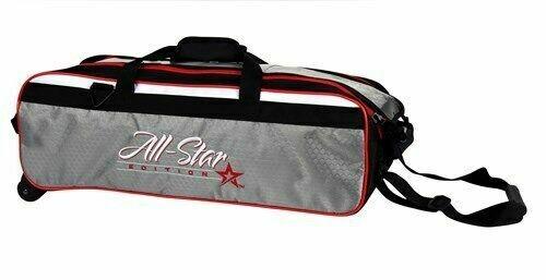 Roto Grip All Star 3 Ball Travel Tote Grey/Black/Red Bowling Bag