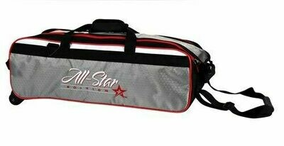 Roto Grip All Star 3 Ball Travel Tote Grey/Black/Red Bowling Bag