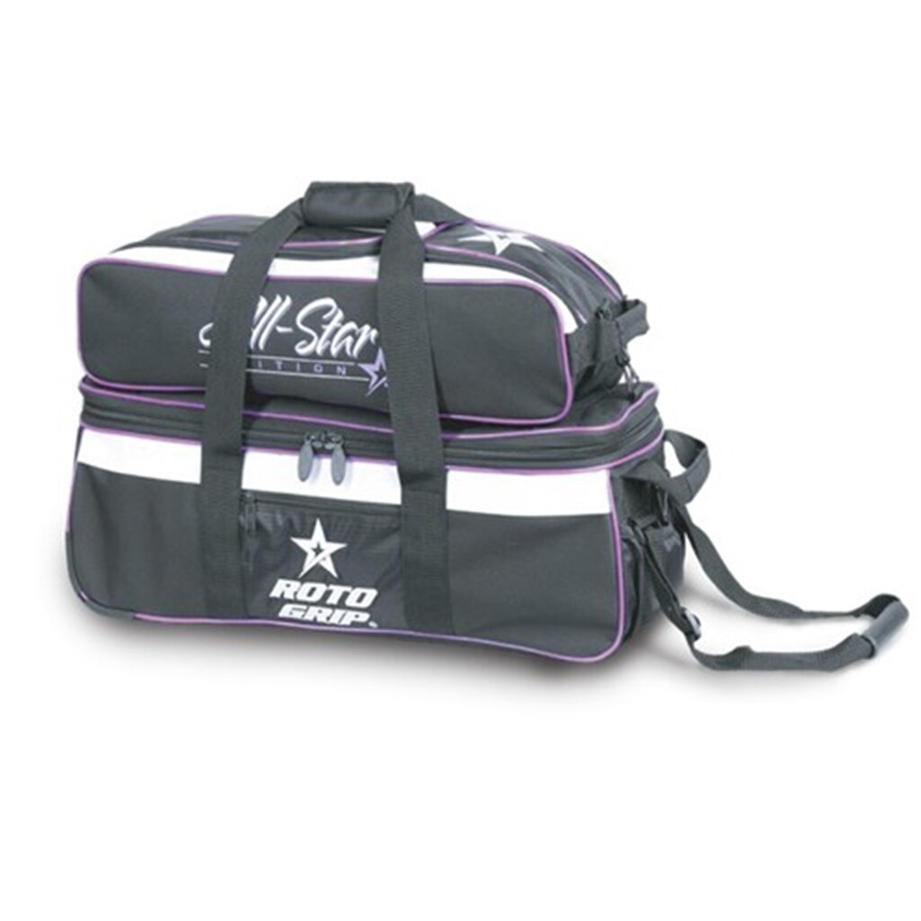 Roto Grip Carry All 3 Ball Tote Black/Purple Bowling Bag