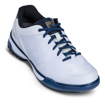 KR Strikeforce Rage White/Navy Right Handed Mens Bowling Shoes