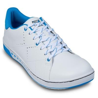 KR Strikeforce Gem White/Blue Wide Width Womens Bowling Shoes
