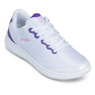 KR Strikeforce Glitz White/Purple Womens Bowling Shoes