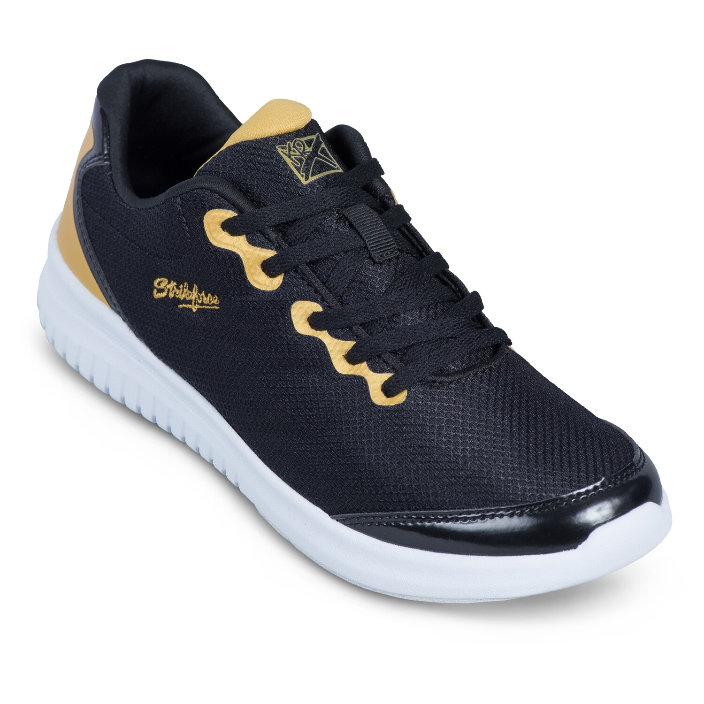 KR Strikeforce Glitz Black/Gold Womens Bowling Shoes